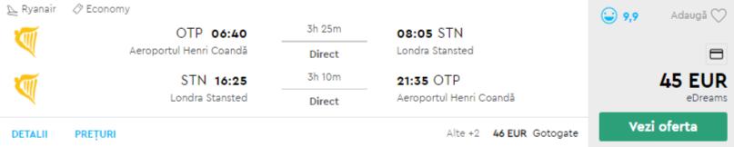 bilete avion Londra
