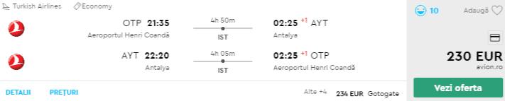 bilete avion antalya 2019