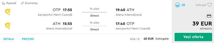 bilete avion ieftine atena