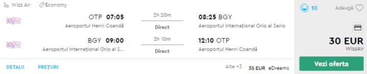 bilete avion ieftine bucuresti milano