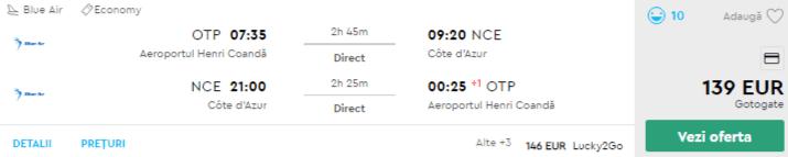 bilete avion coasta de azur nisa