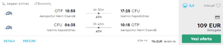 bilete avion ieftine corfu