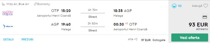 bilete avion ieftine malaga