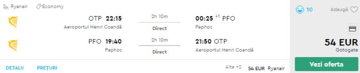 bilete avion paphos