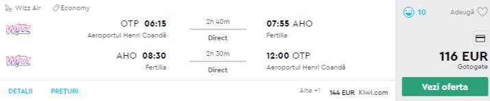 bilete avion ieftine sardinia craciun