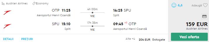 bilete avion split