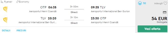 bilete avion bucuresti tel aviv