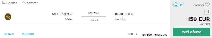 bilete avion male - frankfurt