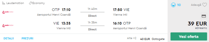 bilete avion ieftine viena