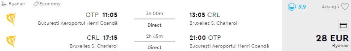 bilete avion bucuresti bruxelles ieftin