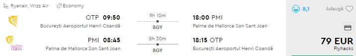 bilete avion palma de mallorca