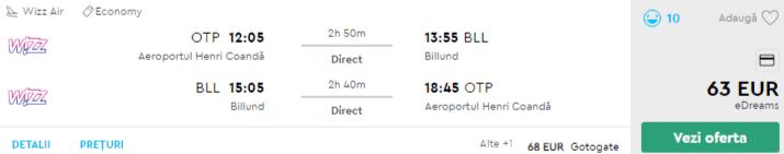 bilete avion ieftine legoland danemarca
