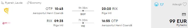 bilete de avion riga