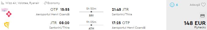 bilete avion bucuresti santorini