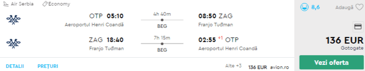 bilete avion ieftine zagreb