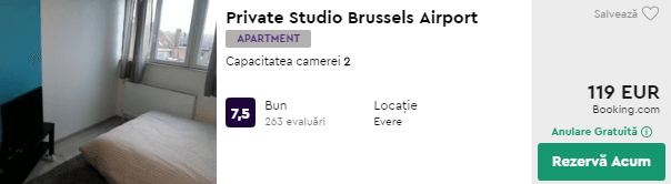 cazare bruxelles ieftin Private Studio Airport