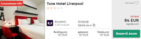 Tune Hotel - cazare Liverpool