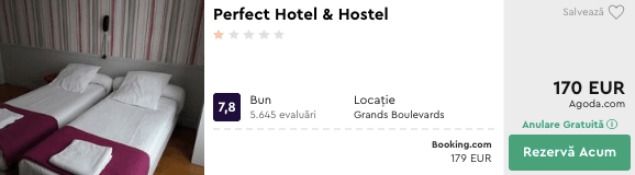 cazare ieftin paris la perfect hotel