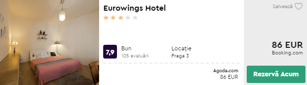 cazare praga centru eurowings hotel
