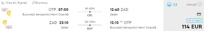 bilete avion zadar