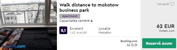 cazare varsovia - apartament Mokotov