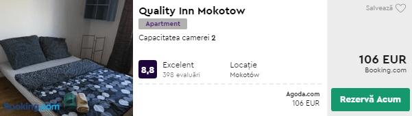 cazare varsovia - quality inn